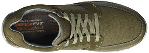 Uomo Skechers Sneaker Khaki Edmen Edmen Khaki Skechers Sneaker Uomo wqp0AU4z