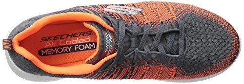 Skechers Sport Heren Energie Uitbarsting In De Mix Sneaker Houtskool / Oranje