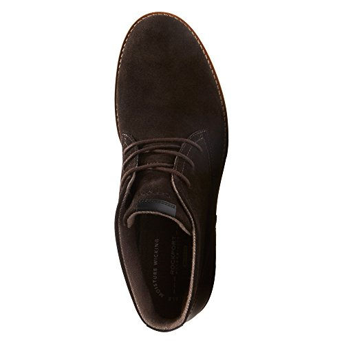 Rockport Ledge Hill 2del hombres Chukka Boot Chocolate amargo oscuro