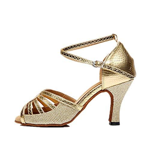 22 cm per pelle Dimensioni 5 da per ballo latine Scarpe adulti Oro A morbide Estate cm Oro 0 25 PU donna Scarpe argento in Hutt 8xFP4qTTw