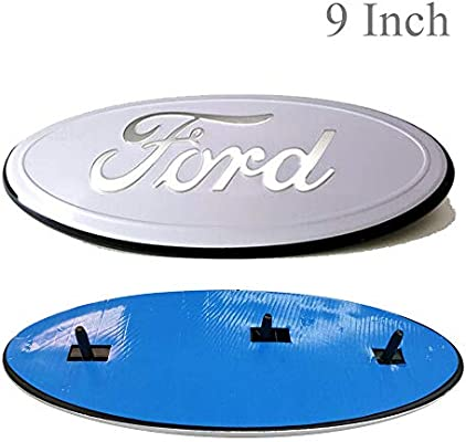 White Cardiytools Front Tailgate Emblem,3D Oval 9 Inch