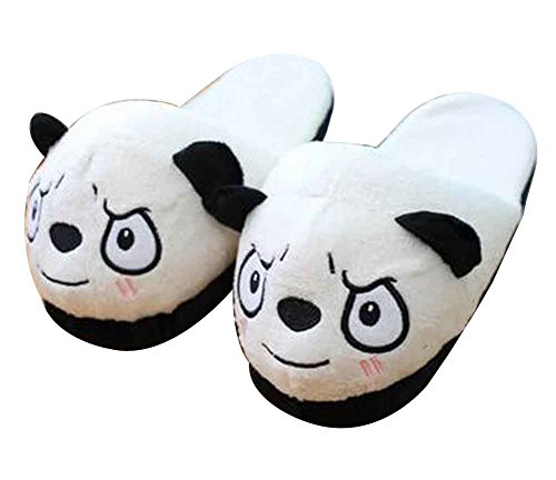 A pair of Panda Slippers Cartoon Plush Slippers Home Slippers [C]