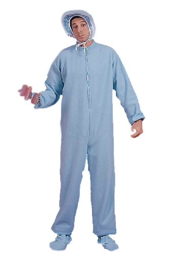 Men's Blue Jammies Costume, Blue/White, One Size -