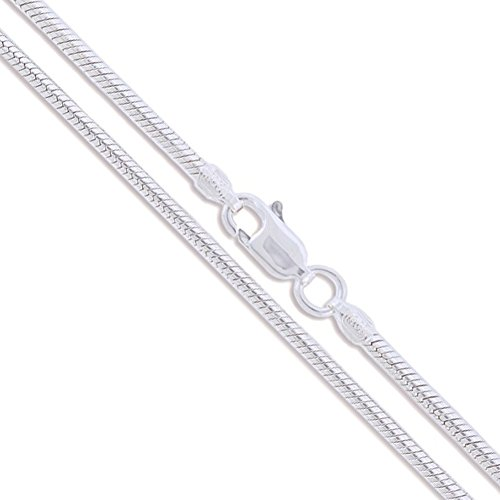Sterling Silver Magic Snake Chain 2.2mm 925 Italy Brazilian New Necklace 16