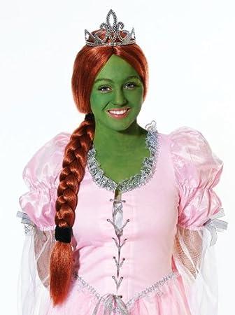 Princess Fiona Wig & Ponytail - Shrek Fancy Dress - Halloween (peluca)