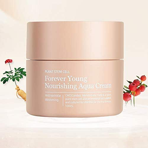 Plant Stem Cell Beauty Skin Restoration Sebum Forever Young Nourishing Aqua Cream Imported from Korea: Moisturizing, Soothing, Wrinkle, Whitening care/Skin Protection (Clinical Strength) 3.3 fl. oz