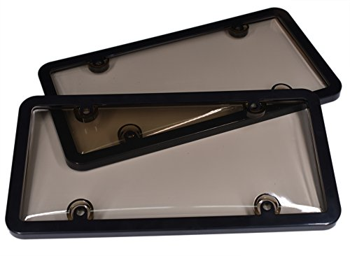 license plate frame smoked - 4