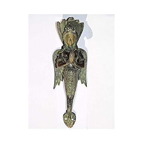 int. d'ailleurs - Bronze Griff engel indianer grün - PGN013