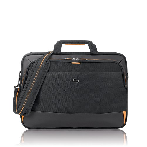 Solo Focus 17.3 Inch Laptop Briefcase, (Hipster Laptop Bag)
