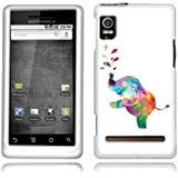Fincibo (TM) Motorola Droid 2 A955 ME722 Protector Cover Case Snap On Hard Crystal - Colorful Elepha