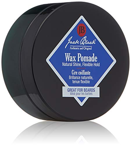 (Jack Black - Wax Pomade, 2.75 fl oz - Hair-Styling Pomade, Pliable Hold, Natural Shine, Great for Beards, Tea Tree Leaf Oil, Sage Leaf Extract, Grapefruit Peel Oil, 2.75 Ounce)