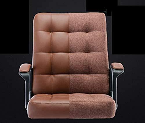 DBL Executive Recline Swivel armstol, vilstol studentstol personalstol sovsal stol hotellstol hem svängbar stol vadderad kontorsstol skrivbordsstolar (färg: Brun)