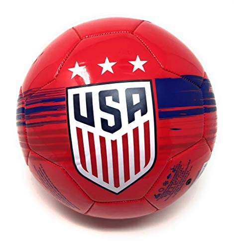 (USA Soccer Ball Size 5 Red Official Licensed USWNT United States National Team USMNT - Great for Players, Trainers, Coaches Gift)