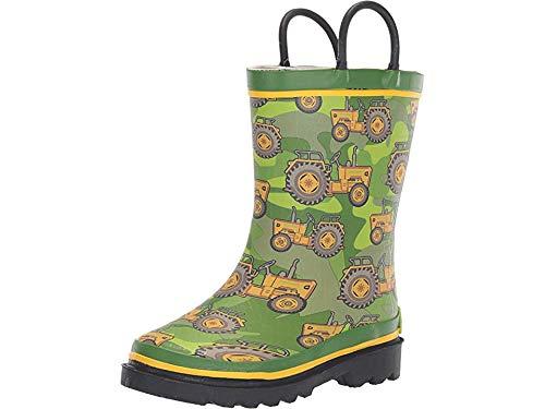 (Western Chief Boys Kid's Waterproof Printed Rain Boot, Vintage Tractor, 13/1 M US Toddler)