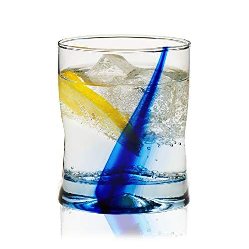 Libbey Blue Ribbon Impressions Rocks Glasses, 12.5-ounce, Set of 8