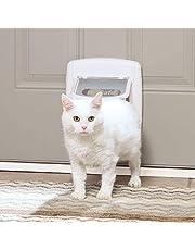 PetSafe 4-Way Locking Cat Door, Exterior/Interior, White