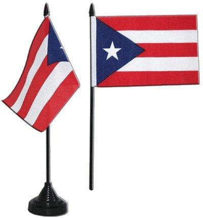 Flaggenfritze/® Tischflagge Puerto Rico 10x15 cm