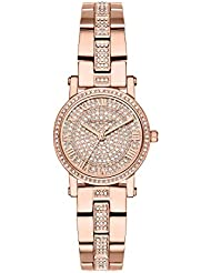 Michael Kors Womens Petite Norie Quartz Stainless Steel Casual Watch, Color:Rose Gold-Toned (Model: MK3776)