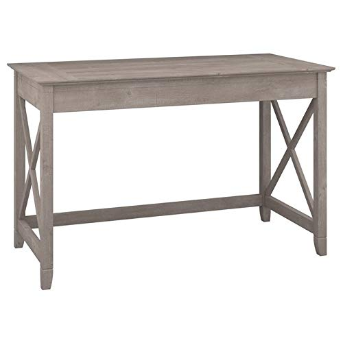 Bush Furniture Key West Collection 48W Writing Desk in Washed Gray (Wood Discount Furniture Reclaimed)