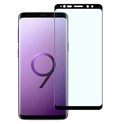 Samsung Galaxy S9 Plus ガラスフィルムS9Plus フィルム ギャラクシー S9+ 液晶保護フィルム S9プラス2.5D全面フルカバー フィルム 飛散防止 気泡ゼロ 国産強化ガラス素材 ケースに干渉せず 1枚入り