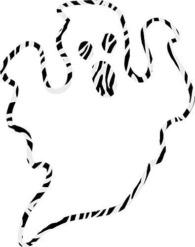 hBARSCI Ghost Outline Vinyl Decal - 11 Inches - for Walls, Windows, Doors, Vehicles, Outdoor-Grade 2.5mil Thick Vinyl - Zebra Print]()