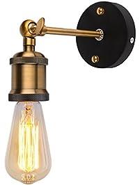 linkax loft vintage wall sconce lamp fixture industrial retro mall light metal lamp edison bulbs