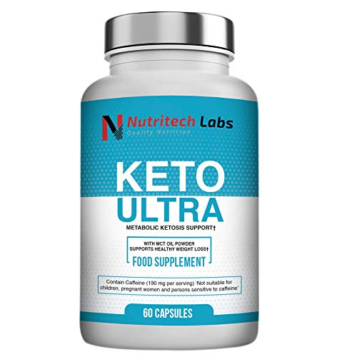 Nutritech Labs Keto Diet Pills – Burner That Work Fast for Women & Men, Advanced Slimming Tablets with Mct, Carb Blocker Pill, Ketones Supplement, 60 Capsules with Electrolyte, Vitamin & Mineral