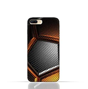 iPhone 8 Silicone Case with Soccer Ball Texture Pattern