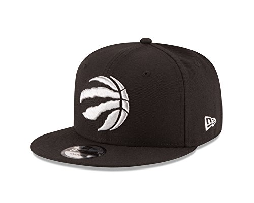 New Era NBA Toronto Raptors Adult Men NBA 9Fifty Team Color Basic Snapback Cap,Osfa,black