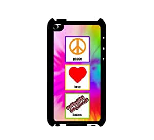I Pod 4 Touch Case Thinshell Case Protective I Pod 4G Touch Case Shawnex Peace Love Bacon