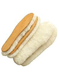 Genius Australian Sheepskin Insole, Extra Thick and Warm Wool Insole, Women Men Replacement Insole