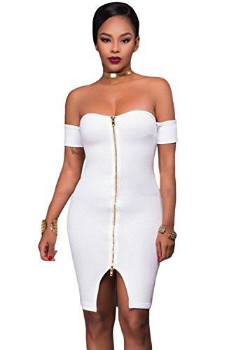 Zip Shoulder Dress - 2