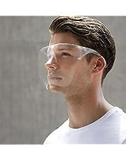قناع وجه واقٍ شفاف قابل لإعادة الاستخدام وقابل للغسل نظارات شفافة واقية ضد الضباب