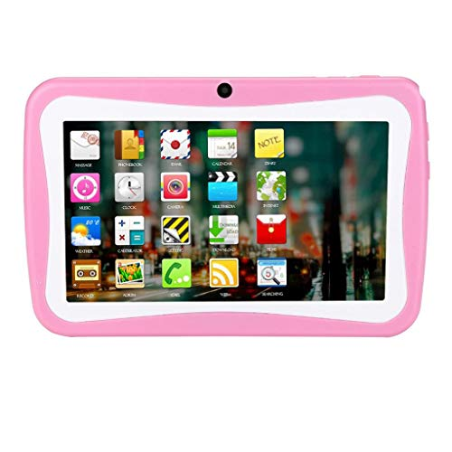 7Inches Tablet- 1G+8G PC HD Touchscreen Mic Wireless Octa Core Quad Core-1024 * 600 Resolution (Pink) by Aurorax