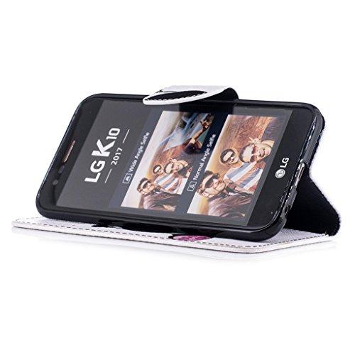 Trumpshop Smartphone Carcasa Funda Protección para LG K10 (2017) + Dont Touch My Phone (oso del bebé) + PU Cuero Caja Protector Billetera con Cierre magnético [No compatible con LG K10] Panda Linda