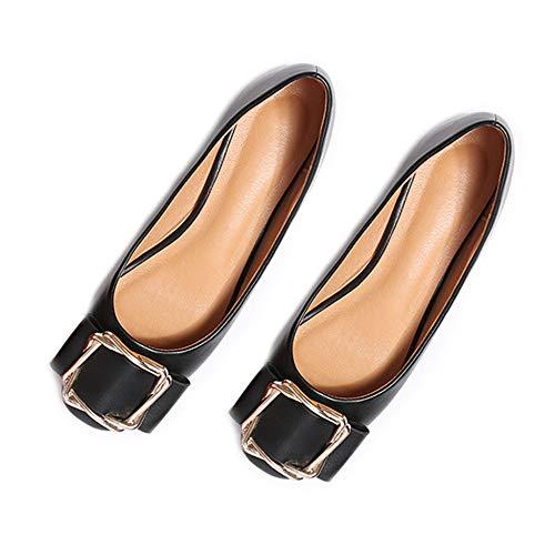 Daim Synthétique Peu Black2 Bouche Chaussures Lithapp À Profonde De Travail En La Femmes Ballerines Mocassins dtxhQrCs