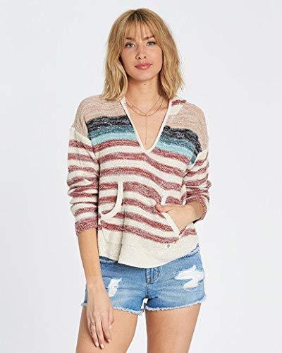 (Billabong Women's Baja Beach Sweater, Redwood M)
