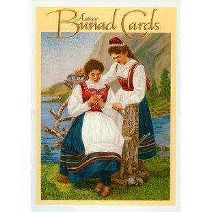 [Antique Norwegian Bunad Card Pack] (Bunad Norwegian National Costume)