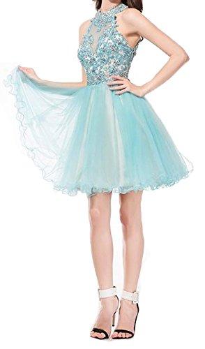 Bessdress Dentelle Courte Robes Homecoming Perles Tulle Robe Formelle De Boule De Partie Bd273 Rose Chaud