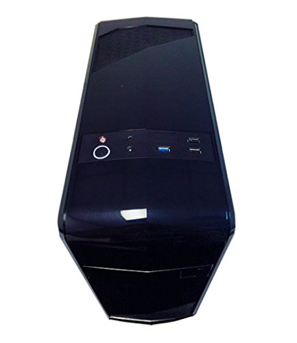 APEVIA X-QTIS-BK Micro ATX Gaming/HTPC Case, Supports Video Card up to 340mm/ATX PS, 1 x Window, USB3.0/USB2.0/HD Audio Ports, 1 x 120mm Blue LED fan, Dust filter, Black by Apevia (Image #4)