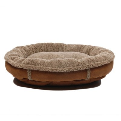 Faux Suede Round Comfy Cup Donut Dog Bed Size: Medium (36