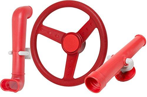 Swing Set Stuff Periscope Telescope Steering Wheel (Red) with SSS Logo Sticker