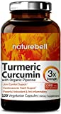 Maximum Strength Organic Turmeric Curcumin, 1500mg, 120 Veggie Capsules, with Black Pepper for Best Absorption, Anti-Inflammatory Joint Relief. Non-GMO, Vegan Friendly and Made in USA For Sale