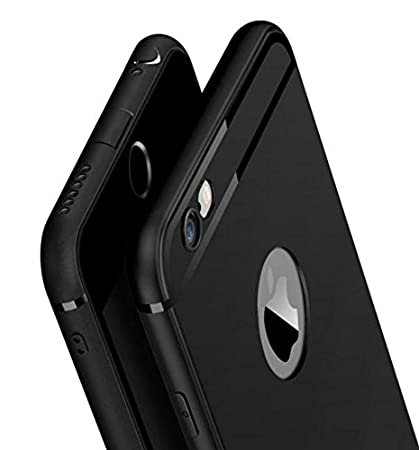 the best attitude 700f3 82db8 Amozo® Soft Silicone with Anti Dust Plugs Shockproof Slim Back Cover Case  for Apple iPhone 6 Plus / 6S Plus - Black