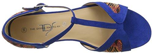 Bleu Sandales Factory Ouvert Bout Divine Bleu Berenice Femme The Z0wAtqnx