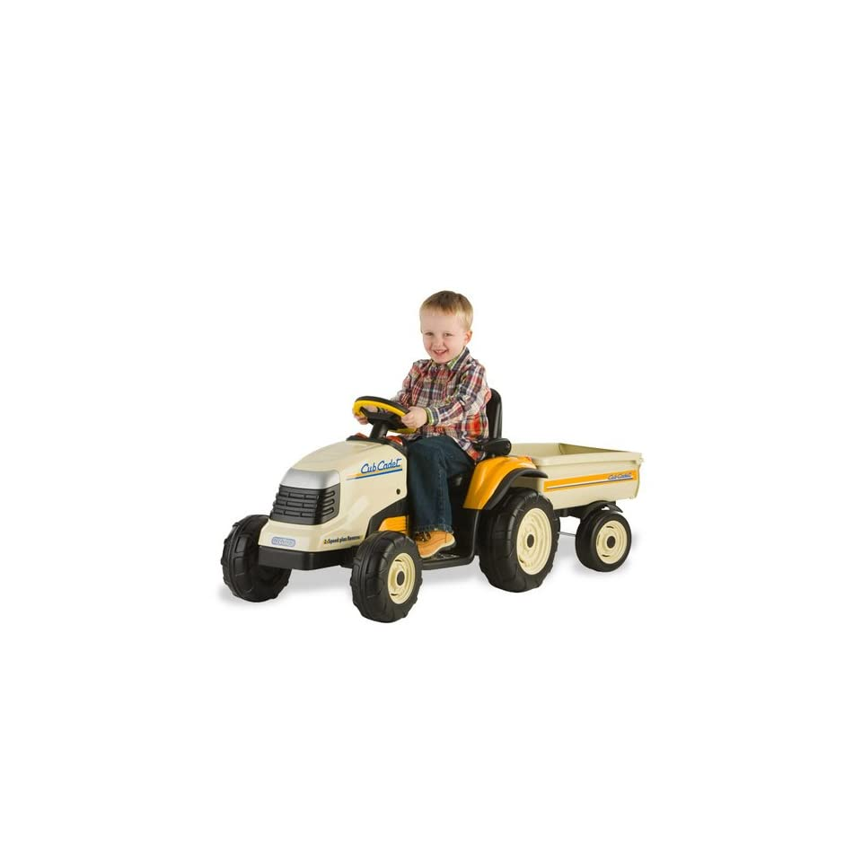 Kids Power Ride On Cub Cadet Lawn Tractor w/Trailer Outdoor/Indoor Wheels