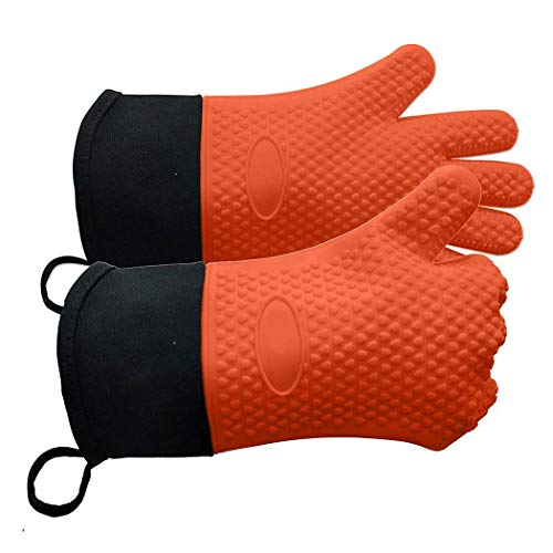 YENJO Unisex Double-Layer Anti-scalding Non-Slip Kitchen Gloves Oven Mitts Mitts from YENJO