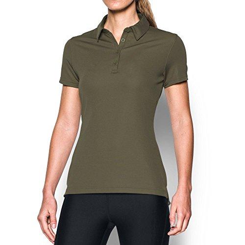 (Under Armour Women's Performance Range Tactical Polo, Marine Od Green (390)/Marine Od Green, Medium)