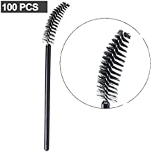 GreatStyler Disposable Eyelash Wands 100 Pieces in Pack Easy Use Curly Brushes Makeup Mascara Tool Cosmetic Makeup Applicators Kit (Black)