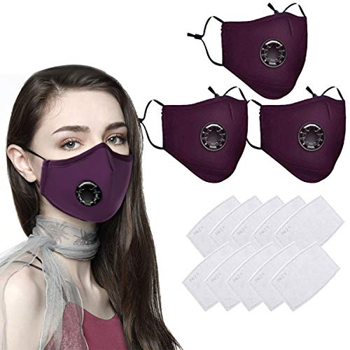 cheap4uk 30 PCS Reusable Face Masks Washable UK Dust Face Mask with Filter for Motorcycle Bicycle Running, Cycling…